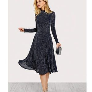 Dresses & Skirts - 💥NEW ARRIVAL💥Shimmer Navy Blue A Line Dress